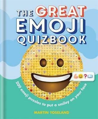NEW The Great Emoji Quizbook By Martin Toseland Hardcover Free Shipping