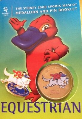 SYDNEY 2000 Olympic Games - Equestrian Sports Mascot Medallion & Pin Booklet