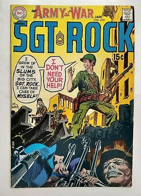 """Our Army at War #214 (VG/FN) Sgt. Rock! """"Easy Co...Where Are You?"""" DC 1970"""