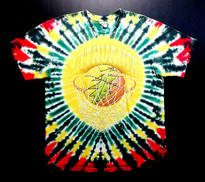 Grateful Dead Shirt T Shirt Lithuania Basketball 1996 Olympics Tie Dye NBA XL