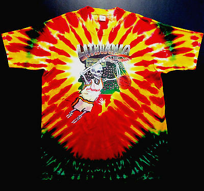 Grateful Dead Shirt T Shirt Vintage 1992 Lithuania Basketball Olympic NBA XL New