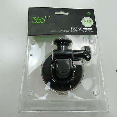 """360fly - Quick Twist Suction Cup Mount 1/4""""-20 - 360 Action Camera - Black New"""