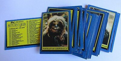 Lot of 1983 Star Wars ROTJ Topps Trading Cards (40)