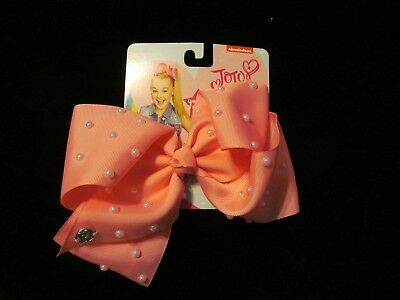 RARE Jojo Siwa Signature Large pink w/pearls    Bow - GREAT EASTER BASKETS