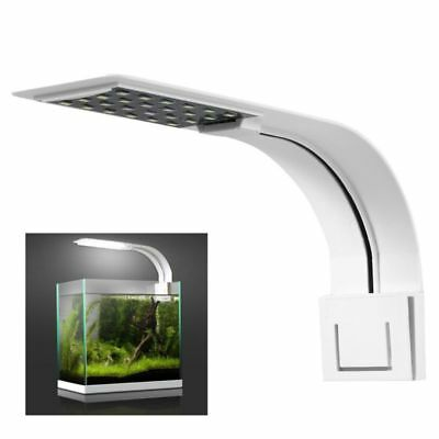 24LED Aquarium Light Arm Clip on Plant Grow Fish Tank Lighting Lamp US EU Plug