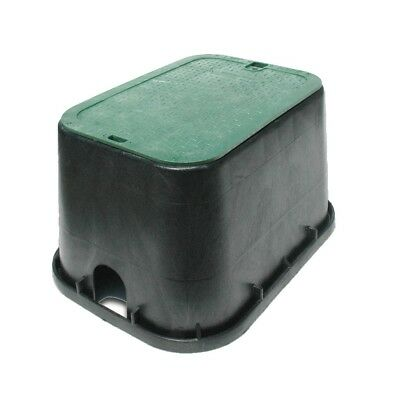 NDS RECTANGULAR VALVE BOX 432mm x 298mm x 305mm HIGH BLACK GREEN MADE IN USA