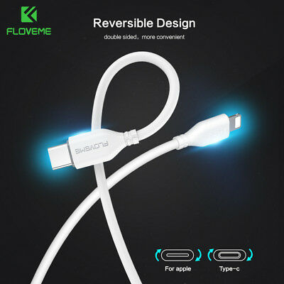 iPhone 8 Type-C USB C to Lightning PD 18W Charger Fast Charging Data Cable Cord
