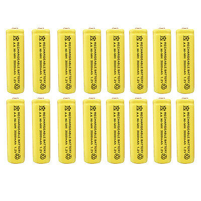 16 x AA 2A 3000 (Actual 300mAh) 1.2V Ni-MH NiMH Rechargeable Battery Cell Yellow