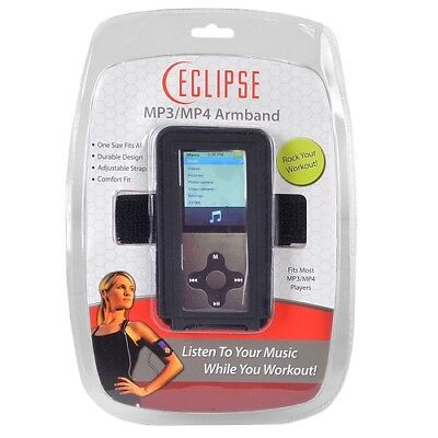 Eclipse MP3/MP4 Player Adjustable Armband (Black) **USA SELLER** FREE GIFT