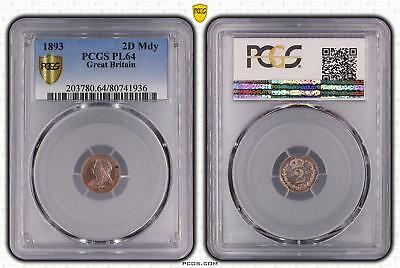 1893 PL64 Great Britain 2D Maundy S-3946 PCGS GRADED Proof Like Ch UNC #936