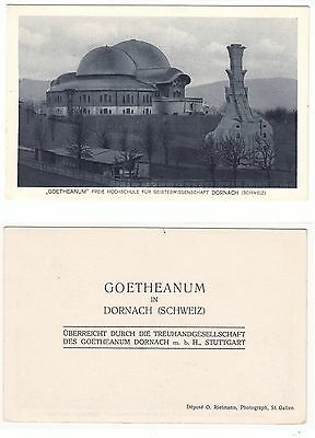 Dornach,Erste Goetheanum Anthroposophie anthroposophy Rudolf Steiner um 1910 (2