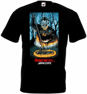 Friday The 13th v46 T shirt black movie poster all sizes S-5XL