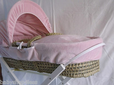 Moses Basket Dressing Covers Girls Pink New