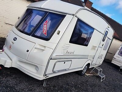 2 berth Caravan/Toilet/Shower/Heating/Large Awning -1100kg VERY LIGHTWEIGHT TOW!