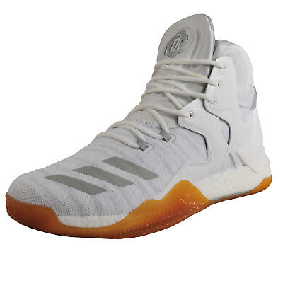 outlet store 02441 15f79 Adidas D Rose PK Primeknit Mens Premium High Top Basketball Trainers White