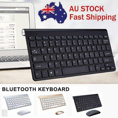 Mini Slim Wireless Keyboard and USB Mouse Combo for PC Laptop Desktop Mac Win7/8