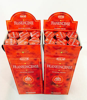 HEM Frankincense BULK INCENSE STICKS - 12 Packets - 240 Sticks New