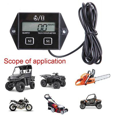 Digital Tach Hour Meter Tachometer Gauge Fr Dirt bike ATV UTV Gas Engines R2
