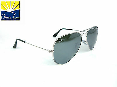 Ray Ban Aviator Large Metal 3025 W3277 58 Specchiato Sunglass Sonnenbrille Sole