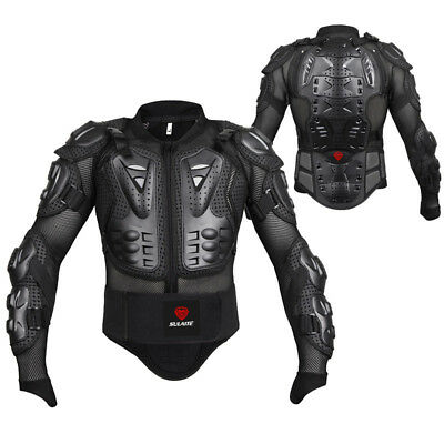 Men's Motorcycle Body Armor Motocross Racing Jacket Spine Chest Protector Gear