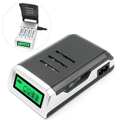 Intelligent 4 Slots LCD Fast Charge NI-MH NI-CD Alkaline AA AAA Battery Charger