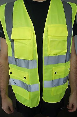 Hi Vis / High Visibility Safety Vest with 9 pockets