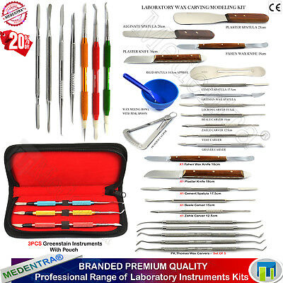 Range of Laboratory Waxing Kits Carvers Plaster / Alignate Mixing Knife Spatulas