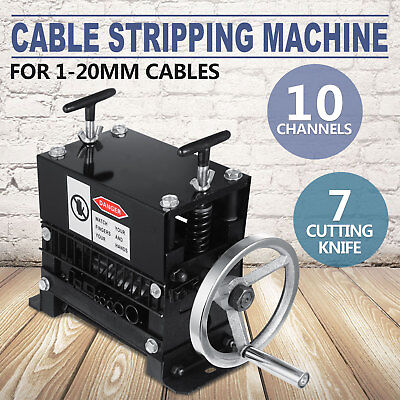 Manual Electric Wire Stripping Machine Recycle Tool Nation Top Up 10 Channels