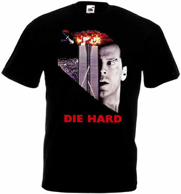 Die Hard 1 T shirt black movie poster all sizes S-5XL