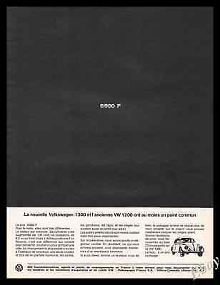 1965  VW Volkswagen Beetle  classic car Original  Vintage Advertising Ad -Z1
