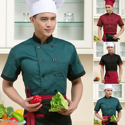 Chef Jacket Coat Chef Uniform Kitchen Formal Hotel Bar Cooker Restaurant Cook