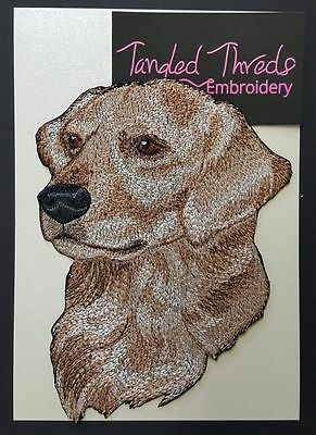 """Golden Retriever Dog Embroidered Patch 4.8""""x 6.7"""""""