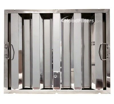 """16"""" x 20"""" x 1.5"""" Stainless Steel Hood Filter - 8012339"""