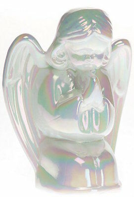 Praying Angel Figurine - Mosser USA - Milk Carnival Mother of Pearl Solid Glass