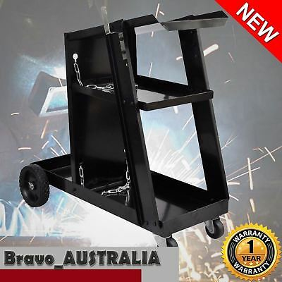 Welding Cart Trolley Welder Storage Shelves Mig Tig Arc Plasma Cutter Premium