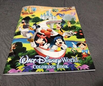 NEW WALT DISNEY World Parks Coloring Book - Princesses Characters ...