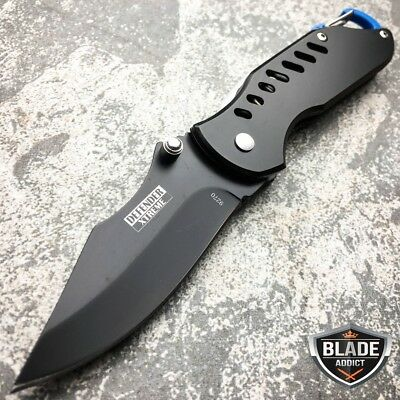 """6.5"""" Xtreme Black Finish Tactical Combat Spring Assisted Open Pocket Knife New-W"""