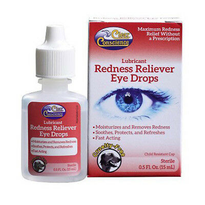CLEAR CONSCIENCE - Redness Reliever Eye Drops - 0.5 fl. oz. (15 ml)