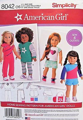 American Girl Doll Clothes Pattern Simplicity 8042 New Uncut