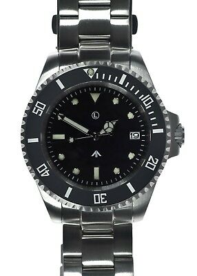 MWC 24 Jewel | 300m | Automatic Military Divers Watch | Steel Bracelet | Sterile