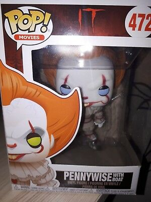 Funko POP! Movies: IT Pennywise with BALLOON 475 RAR blaue Augen! NEU