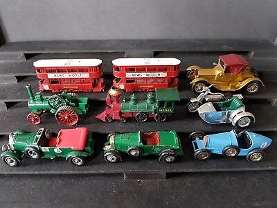 Tolles Matchbox Lesney Konvolut 9 sehr alte Models Of Yesteryear, auch sehr gute