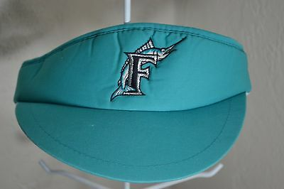 MIAMI FLORIDA MARLINS VISOR SNAP BACK MLB FISH LOGO BASEBALL RETRO VINTAGE 90's