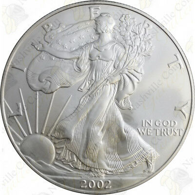 2002 1 oz American Silver Eagle - Brilliant Uncirculated - SKU #1396