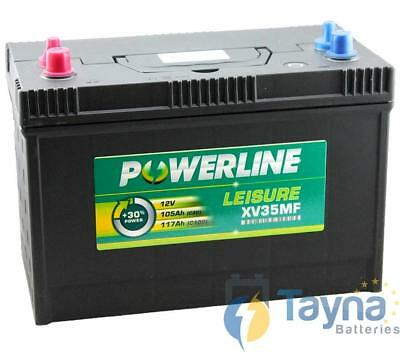 XV35MF Powerline Batterie Camping Bateau 12V