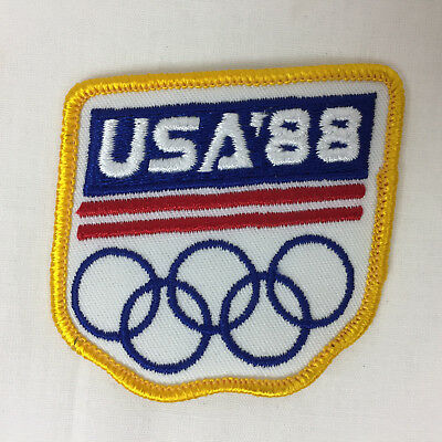 New - 1988 SEOUL SUMMER OLYMPIC GAMES USA Patch Badge Lewis Biondi