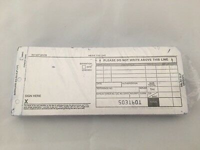100 Long 2 Parts Credit Card Sale Slips