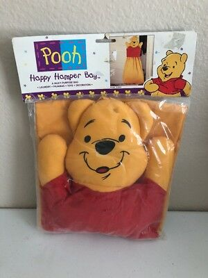 Disney Winnie the Pooh Baby Diaper Stacker hamper Bag Decorative Nursery New