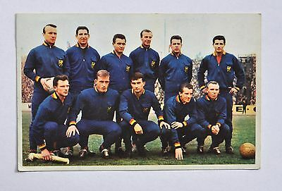 Football, voetbal chewing-gum : Diables Rouges / Rode Duivels 1962/1963