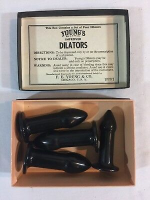 Vintage Young's Improved Rectal Dilators Medical Devices Bakelite Anal Training